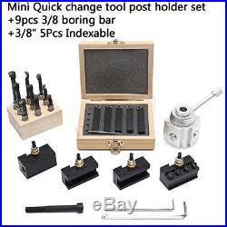 19Pcs/Set Quick Change Tool Post Mini Lathe CNC Boring Bar Turning Tool Holder