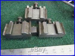 3 European Quick Change Lathe Tool Holders I-070