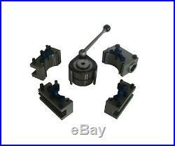 40-position quick change tool post swing 150-300mm lathe tool post set of 5pcs