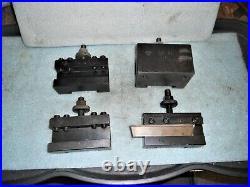 4 Piece set CA Quick Change Tool Holders Aloris CA-1, CA-2, CA-41 + Enco CA-7