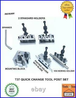 5 Pieces Set T37 Quick Change Tool post Lathe Myford ML7 Premium Quality