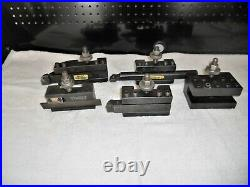 5 piece set of Aloris CA Quick Change Tool Holders CA-1, 2, 6, 7, 13