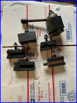 6 12 CNC Lathe AXA Wedge Quick Change Tool Post Set South Bend Lathe T-nut