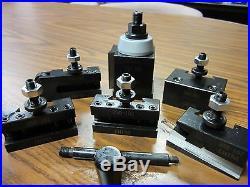 6-12 QUICK CHANGE TOOL POST-6PCS/SET-Piston TYPE #830A-532-new