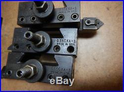 6 Dorian D35cxa-1 2 Tools Sandvik Iscar Quick Change Tool Post Metal Lathe