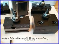 7pcs OXA Quick Change Tool Post Set Extra #1 6-9 Swing Wedge 250-000, #830-000