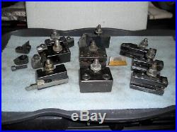 (9) Aloris AXA Quick Change Tool Holders, #1 2 4 6 7 8 13 20 23