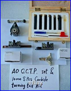 A0 40 Position Quick Change Tool Post Kit For 120-220mm Swing Lathe 4.7 to 8.7
