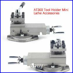 AT300 Mini Lathe Accessories Quick Change Tool Holder Bracket Processing Tool US