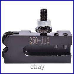 AXA Size 250-111 Set Wedge Type Quick Change Tool Post Set for 6-12 Lathe Tool
