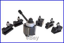 AXA Wedge Type Quick Change Tool Post Set 250-111 for Lathe 6 12