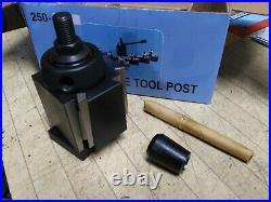 Accusize Tools 8 piece AXA Wedge Type Quick change tool post set 6-12 Lathe