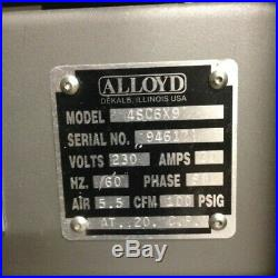 Alloyd blister pack machine 4SCBE 69 with quick change tool system