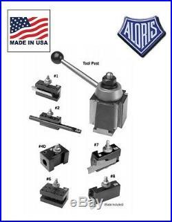 Aloris AXA Quick Change Lathe Tool Post 7 pc Holder Set #1-SET