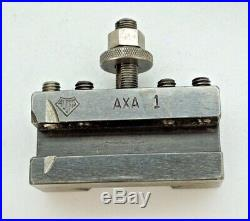 Aloris AXA Quick Change Tool Post with (2) Aloris AXA Tool Holders 1 Dorian