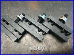 Aloris AXA Quick Change Wedge Tool Post with 3 tool holders