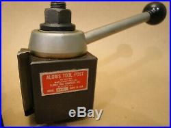 Aloris AXA Quick Change Wedge Tool Post with 5 tool holders