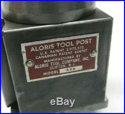 Aloris Axa Series Quick Change Lathe Tool Post + 2 Holders Up To 12 Swing