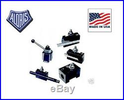Aloris BXA Quick Change Lathe Tool Post 5pc Holder Set #2-BS Made in USA