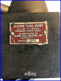 Aloris BXA Quick Change Lathe Tool Post Wedge Style