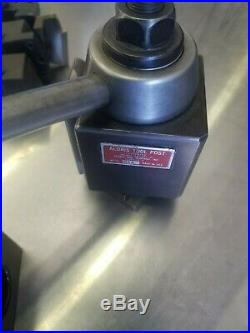 Aloris BXA Quick Change Tool Post Holder and 6 Tool Holders