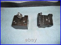 Aloris BXA Quick Change Tool Post, Wedge Type Clamp, with 5 Aloris Tool Holders