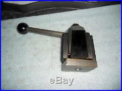 Aloris BXA Quick Change Tool Post, Wedge Type Tool Clamp + (9) Assorted Holders
