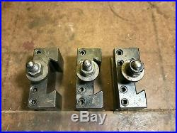 Aloris BXA Quick Change Tool Post with (3) Tool Holders BXA1 & BXA2 MADE IN USA