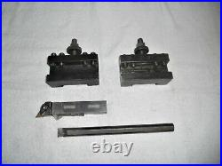 Aloris CA-1 and CA-2 Quick Change Tool Holders with Boring Bar & Insert Holder