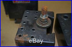 Aloris CXA 8 pc Set Quick Change Tool Post & Tool Holders