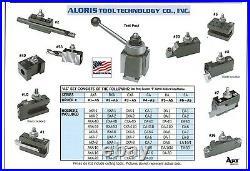 Aloris CXA Quick Change Lathe Tool Post +10 Holder Set #3-AS