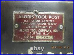 Aloris CXA Quick Change Tool Post