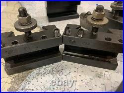 Aloris CXA Quick Change Wedge tool post and 8 holders