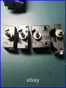Aloris CXA quick change tool post PLUS 4 holders CXA 1 4 7 10