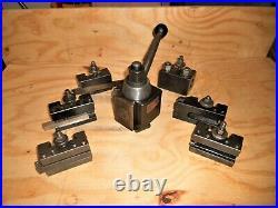 Aloris CX (CXA size) Quick Change Tool Post, Piston type 6 pce. Set of Holders
