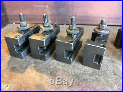 Aloris CX Quick Change Tool Post for 13-18 Swing Lathes with 6 Tool Holders
