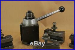 Aloris Ca Quick Change Tool Post With Four (4) Aloris Tool Holders