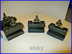 Aloris Cxa Tool Holders Assorted (5) Pieces USA Quick Change