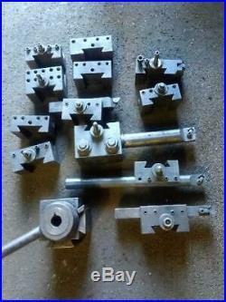Aloris Quick Change CXA Tool Post Fits 13-18 Swing Lathes with 12 Toolholders