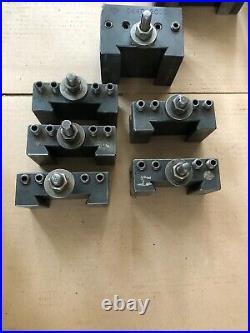 Aloris Quick Change Tool Holders Ca1 Qty 1, Ca2 Qty 4, Ca4q-2000