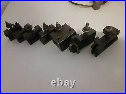 Aloris bxa quick change tool post holders lot of 7