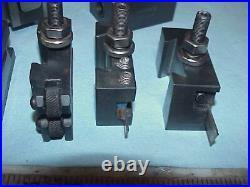 Atlas Craftsman 10/12 Lathe Phase 2 II Quick Change Tool Post Set With 7 Holders
