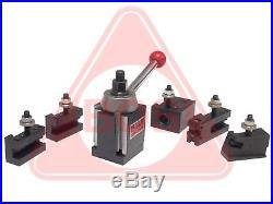 BOSTAR AXA Wedge Type Quick Change Tool Post Set for Lathe 6 12