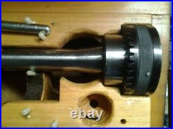 BRIDGEPORT R8 TAPER SHANK QUICK CHANGE MASTER With 10 TOOL HOLDERS & KEY