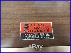 Bridgeport R8 QUICK CHANGE BALAS FALCON FLEXI-GRIP TOOL SYSTEM FULL SET COLLET