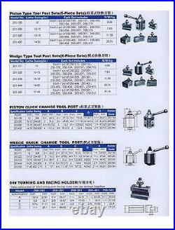 Chinzoa 250-400 Tool Post with Quick Change Tool holders for one inch tooling