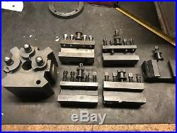 Clausing Lathe Quick Change Tool Post With 5 Holders USED CXA Style