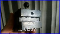 Clean Hardinge L18 Quick Change Tool Post & L21 Holder Lathe Machinist Tool