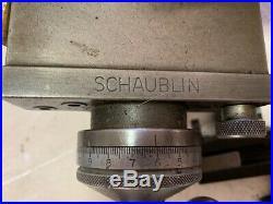Cross Slide Compound For Schaublin 102 Lathe quick change mandrel 5 tool holders