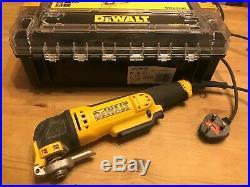DeWalt DWE314K Oscillating Multi-Tool, Quick Change Tool Release, TStak Case 240v
